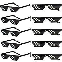 """10 schwarz winzige pixel sonnenbrille.Seien Sie der Fokus jeder Party mit diesen Thug Life Sonnenbrillen! Ein einzigartiges 6 pixel Design. Die Brille ist bekannt für den """"Deal With It"""". Inspiriert von Minecraft. Das besondere Design verleiht dieser ..."""