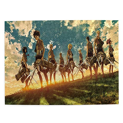 Honkzi Attack On Titan Mikasa Ackerman 500 Pieces Puzzles for Adults&Kids,Cartoon Patchwork Pattern, Decompression Jigsaw Puzzles,Funny Family Game Toy Home Decoration (52x38cm)