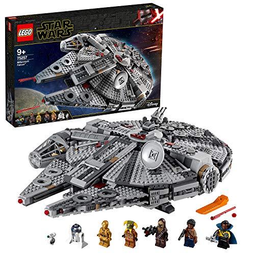 LEGO 75257 Star Wars Halcón Milenario - Set de construcción de nave espacial con mini figuras de Chewbacca, Lando, C-3PO, R2-D2