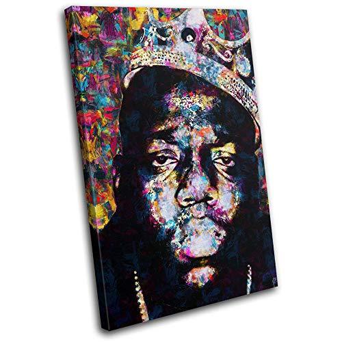 Bold Bloc Design - Notorious Big Biggie Iconic Celebrities 90x60cm Single Leinwand Kunstdruck Box gerahmte Bild Wand hangen - Bereit zum Aufhangen - Canvas Art Print RC-8669(00B)-SG32-PO-D