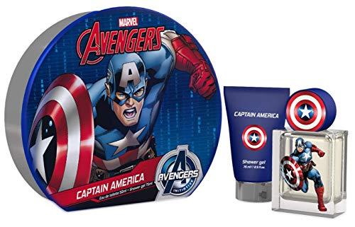 Avengers Geschenkbox Captain America mit seinem Parfüm und Duschgel nur für Helden (Metallbox), 476 g