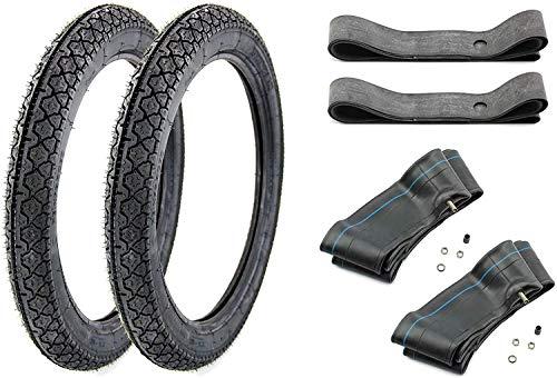 6 teiliges Reifen SET 2x Heidenau Reifen 2,75 x 16 Zoll K36 46J + 2x Schläuche + 2x Felgenbänder