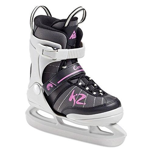 K2 Cirrus Jr Ice Skates Schlittschuhe für Mädchen US 4-8 EURO 35-40 UK 3-7 CM 22-25.5 Pink/Grau/Schwarz The Original SoftBoot