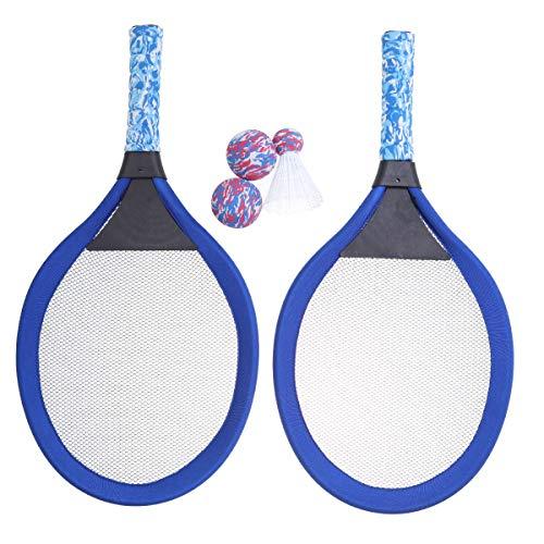 LIOOBO Raquetas de Tenis de bádminton de Playa y Juego de Pelota Juego de Juguete para niños Color Aleatorio (Azul)