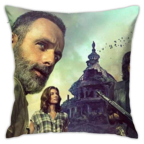 wteqofy The Walking Dead Throw Pillow Cover Decorative Cushion Case Home Square Pillowcase Decor for Sofa Couch Decorations 18 x 18 inch