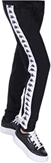 Kappa Pantalone Donna Nero in Felpa Stampa con Logo e Bande Laterali 304K4K0915 XS