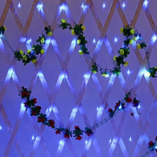 Mood Lights für Schlafzimmer LED-Vorhang-Fee Urlaub-Schnur-Licht-Weihnachtsfest Hochzeitsdeko EU-Stecker 220V AC 1.5x1.5m IP65 (Color : Blue)