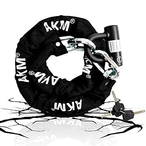 AKM Security Bike Chain Lock 12mm Cut Proof Heavy Duty Bicycle Lock with 16mm U Lock,3-Feet...
