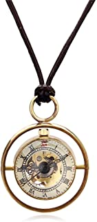 Watch Outer Ring Gold Movement Pocket Watch Retro Small Crystal Ball Glass Ball Pendant Pocket Watch, Fashion Watch (Color : Gold, Size : 4.7x1.5cm)