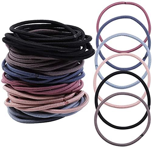 100 bandas para el pelo para las mujeres – encantadores colores apagados elásticos para el pelo accesorios para el peinado Bobbles para niñas