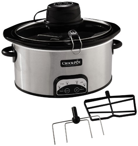 Crock-Pot iStir Automatic Stirring Slow Cooker with 2 Removable Paddles, Stainless Steel, SCCPVP650A