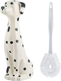Allure Home Creations Ceramic Dalmatian Bowl Toilet Brush Holder Set-Brush Included -2pcs Set