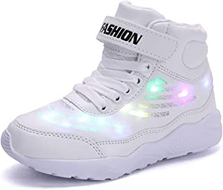 QJRRX Boy Girls Light up Shoes Led Flashing Fashion Sneaker Kids Toldder