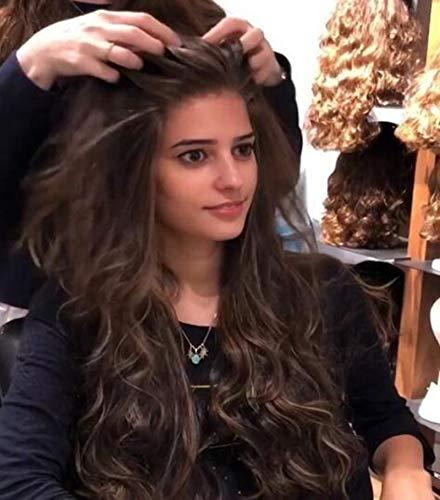 XXXVV Realistisch aussehende synthetische gewellte Haare Eisblonde Perücken mit dunklen Wurzeln Ombre Haarperücken Synthetische platinblonde Perücke Haarperücke 22 Zoll
