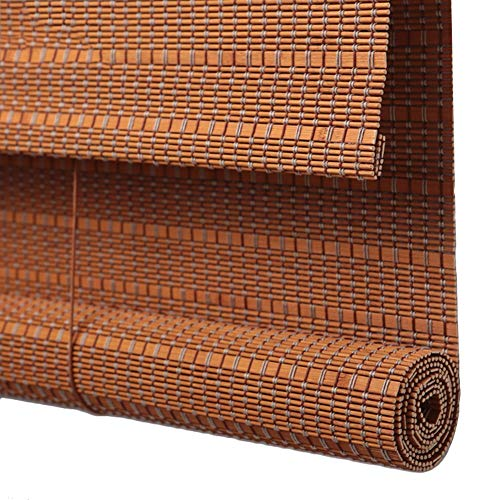 JIAJUAN Persiana Estores De Bambú Enrollable Ventanas Persianas Enrollables Respirable Sin Rebabas Sala Dormitorio Terraza Ventana Sombrilla para Interior y Exterior, Marrón