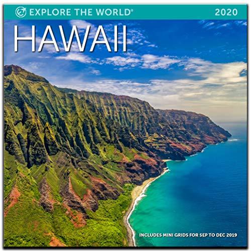 "Hawaii Wall Calendar 2020 Monthly January-December 12'' x 12"""