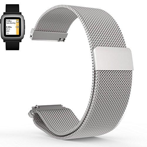 Aresh Cinturino 22mm + frequenza cardiaca, morbido, silicone, per Pebble 2Pebble 2Pebble Time 2Time Steel