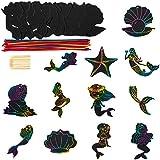 ldab Rainbow Scratch Art Paper, Magic Color...