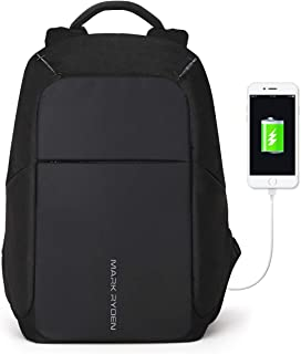 Markryden Anti-theft Laptop Backpack Business Bags with USB Charging Port School Travel Pack Fits Under 15.6 Inch Laptop (...
