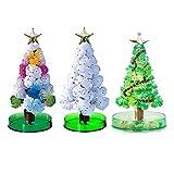ZHAOXX 1set Magic Growing Christmas Tree, Princess Christmas Tree Set, Santa Christmas Tree, Pavo Real, Muñeco De Nieve Árbol De Navidad Regalo De Cristal Divertido Niños DIY A
