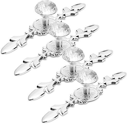 Kabinett Schubladen Knopf Diamant Kristall Schublade Pull Griff Tür Schrank Schrank Möbel Knöpfe Schrank Schrank Schrank Pull Handle (Packung mit 4) (121mm)