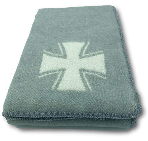 Alpenwolle Wolldecke Militärdecke Armeedecke Eisernes Kreuz Tagesdecke Sofadecke Couchdecke Wohndecke Decke Kuscheldecke135x220cm