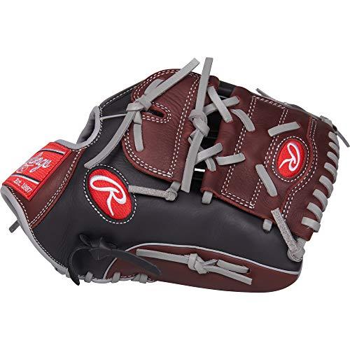 """Rawlings R9 Baseball 12"""" P, Conv/2 PC R9206-9BSG-0/3 Gloves , Left Hand Throw"""