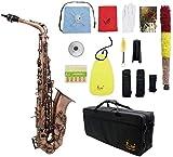 ammoon Saxophone Alto Saxophone Mi bémol en bronze rouge mi bémol Abalone...