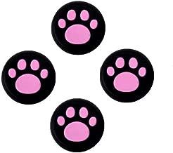 Analog Silicone Joystick Joy Stick Grips Cap Cover Thumbstick Thumb Stick Grips Cap Cover for PS4 PS3 Xbox one Xbox 360 PS2 Controller (4 x Pink Cat Dog Paw)