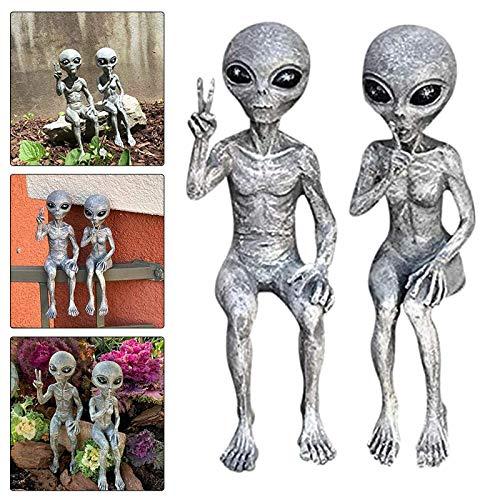 Bumplebee Alien Statue Garden Decorations Mini Resin Art Figurine Funny Style Ornaments for Home Indoor Outdoor Decoration Figurines