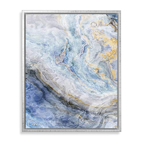 Bildershop-24 Schattenfugenrahmen mit Schattenfuge Layka Rahmen für Keilrahmenbilder und Leinwände 50 X 70cm Weiß Grau Antik
