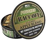 BaccOff, Classic Apple Blend Pouches, Premium Tobacco Free, Nicotine Free Snuff Alternative (10 Cans)