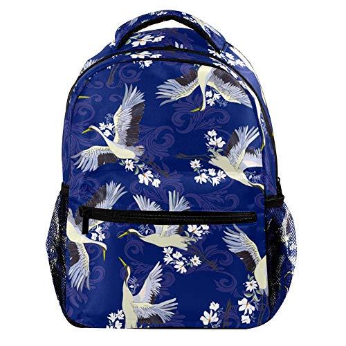 TIZORAX Fly Crane Rucksäcke Casual Daypacks Reisetaschen Schultasche für Männer Frauen Mädchen
