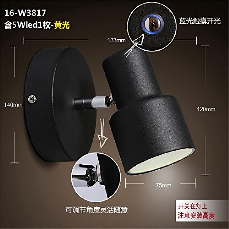 StiefelU LED Wandleuchte nach oben und unten Wandleuchten Beleuchtung am Bett Leseleuchten Scheinwerfer Spiegel vorderen Leuchten Wandleuchten Wand, schwarz, warmes Licht, Touch-LED