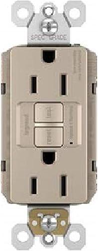 discount Legrand radiant Self-Test wholesale GFCI Outlet, 15 Amp, Safe for Kids, Tamper Resistant Outlets, Brushed Nickel, sale 1597TRNICC4 outlet sale