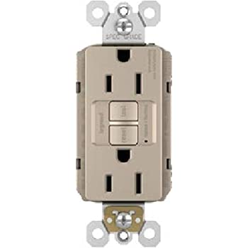 Brown Legrand Pass /& Seymour radiant 2097TRA Tamper-Resistant Audible Alarm 20 Amp Self-Test GFCI Outlet