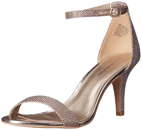 Bandolino Footwear Women's Madia Heeled Sandal, Gold, 9.5