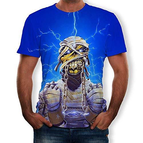 RKWEI T-shirt à manches courtes pour homme Motif crâne XXXXL multicolore