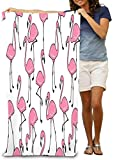 shdgfhdfghdf Bath Towel Soft Beach Towel 31'x 51' Towel Unique Design Flamingo Pink Flamingos Exotic Bird Tropical Scarf Isolated...