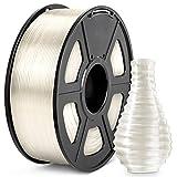 PLA 3D Printer Filament, JAYO PLA Clear Filament 1.75 mm, Dimensional Accuracy +/- 0.02 mm, 1 KG Spool, PLA Transparent