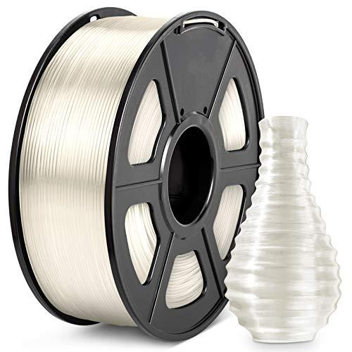 PLA Filament 1.75, JAYO PLA Clear 3D Drucker Filament, Maßgenauigkeit +/- 0,02 mm, 1 kg Spule, PLA Transparent