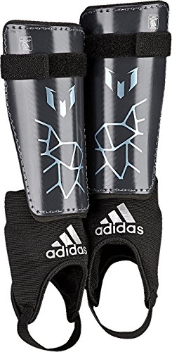 adidas Performance Messi 10 Youth Shin Guards, Night Grey/Matt Ice Metallic, X-Large