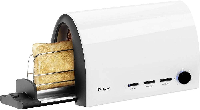 grandes ahorros Trisa Electronics Toast & Slide Slide Slide tostadora blancoo 950W  Con precio barato para obtener la mejor marca.