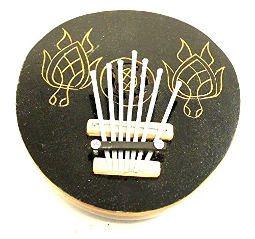 Wohnkult Kalimba 7 Zungen Daumenklavier Echte Handarbeit Kokosnuss Karimba Musikinstrument