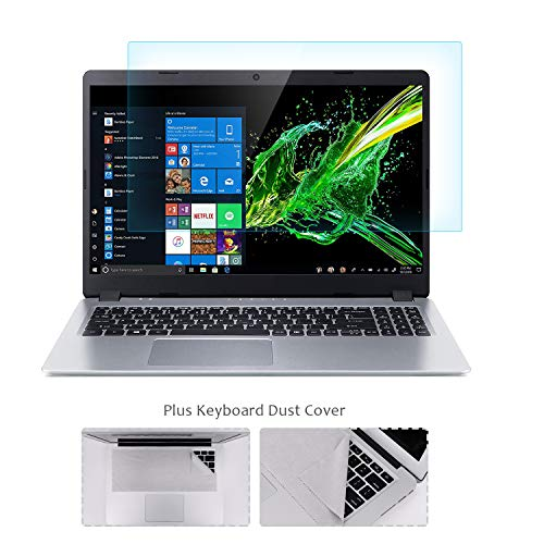 "FORITO 15.6' Laptop Tempered Glass Screen Protector Compatible with 15.6"" HP/DELL/Asus/Acer/Sony/Samsung/Lenovo/Toshiba/Razer 16:9 Display, with Fabric Keyboard Screen Protector, Bubble Free"