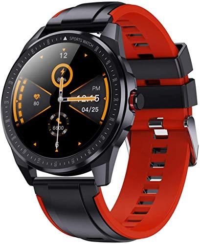 Reloj inteligente para hombres con rastreador de fitness con batería de 60 días de larga duración 5 ATM, resistente al agua 1.3, pantalla táctil completa, frecuencia cardíaca