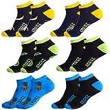 Crazy Socks T313-2-H 43/46 Set 6pcs Calcetines de Vestir-Tobilleros, Pack 6pares T313/2, Hombres