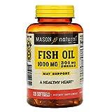 Mason Natural Fish Oil, 1,000 mg, 120 Softgels