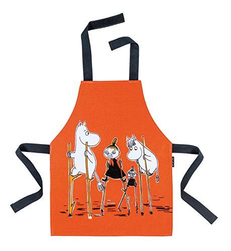 Petit Jour Paris - Tablier Moomin orange - Se nettoie très facilement à l'éponge