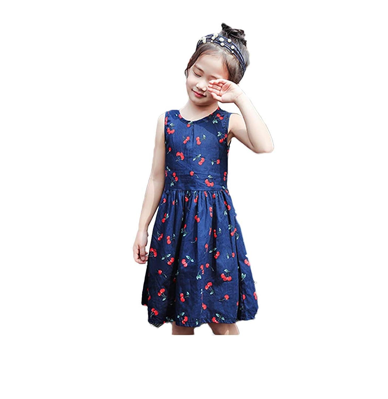 【ごはん】夏服 子供服 ワンピースキッズ 女の子 花柄サスペンダーワンピース チュニックワンピース aラインノースリーブドレス お姫様 結婚式 パーティー